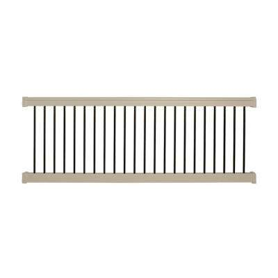 Bellaire 3.5 ft. H x 6 ft. W Khaki Vinyl Railing Kit