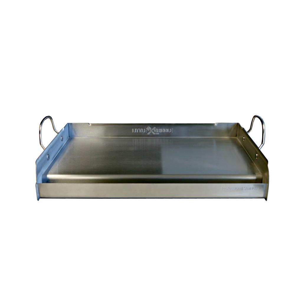 Little Griddle Professional Series 25 In Stainless Steel Bbq Griddle 00008 The Home Depot