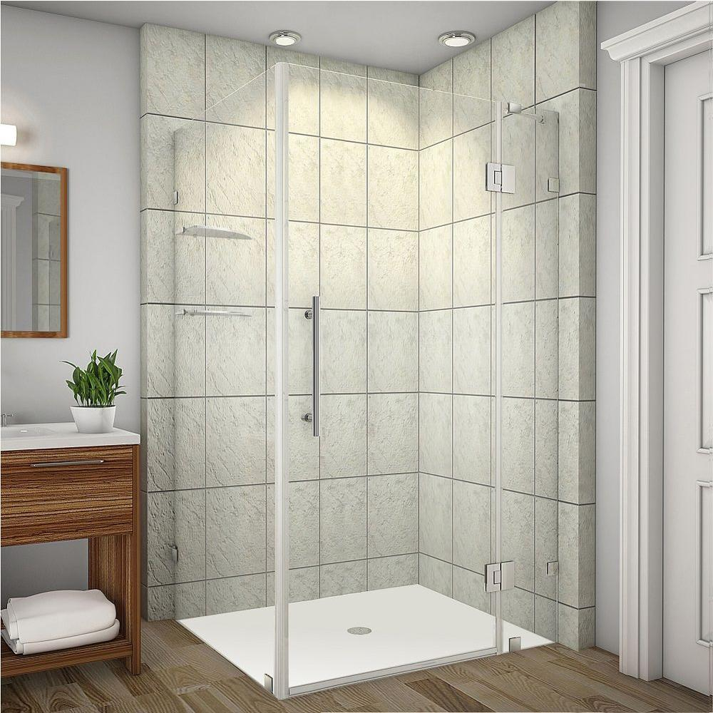Avalux GS 40 in. x 72 in. Frameless Shower Enclosure in