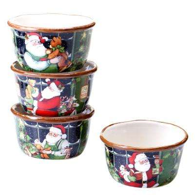 Santa's Workshop Ice Cream/Cereal Bowl (Set of 4)