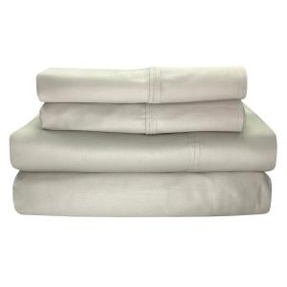 Siesta 4-Piece Linen Solid 300 Thread Count Cotton King Sheet Set