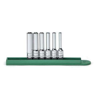 1/4 in. Drive Deep E-Socket Set (6-Piece)