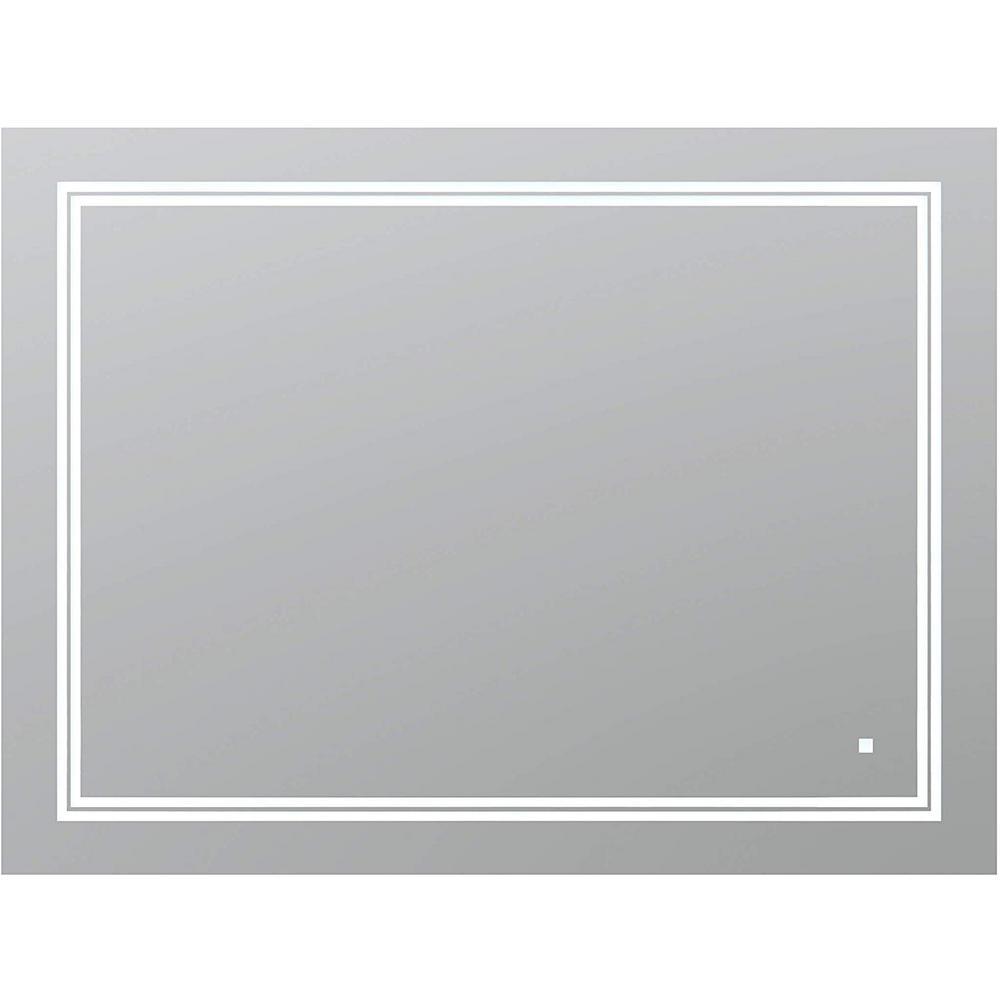 Aquadom SOHO 48 in. W x 36 in. H Frameless Bathroom Mirror ...