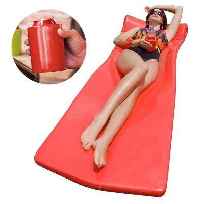 XX-Large Foam Mattress with Bonus Koozie Coral Pool Float