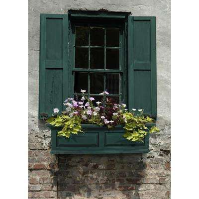 Nantucket 10 in. x 36 in. Green Polyethylene Window Box