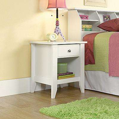 Shoal Creek 1-Drawer Soft White Nightstand