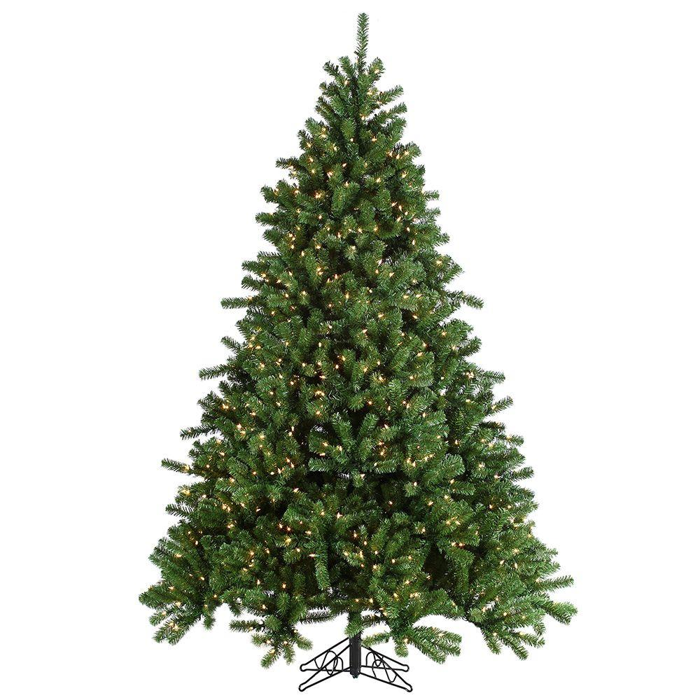 Sterling 7.5 ft. Pre-Lit Grand Canyon Spruce Artificial Christmas ...