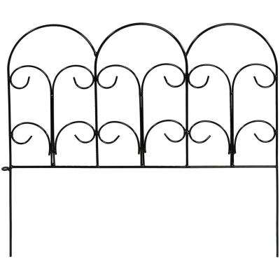 Victorian 18 in. W x 16 in. H Steel Wire Garden Fence (5-Pack)