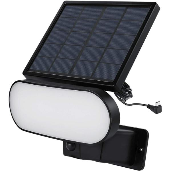 2-in-1 Solar Panel Charger and Security Light for Arlo Essential Spotlight and XL Spotlight Camera (Black)