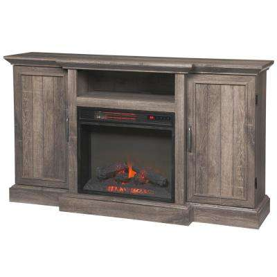 oak fireplace tv stands electric fireplaces the home depot. Black Bedroom Furniture Sets. Home Design Ideas