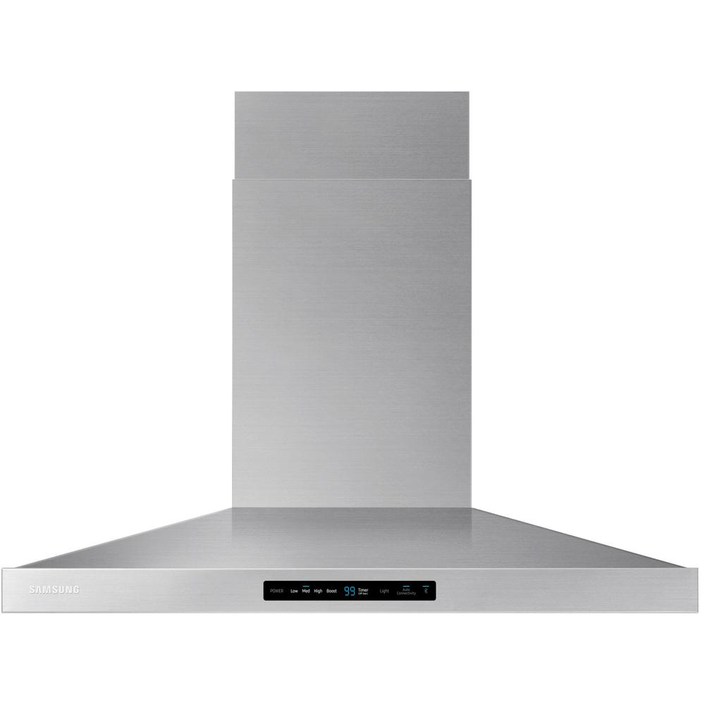 Samsung 36 in. Wall Mount Range Hood Touch Controls, Blue...