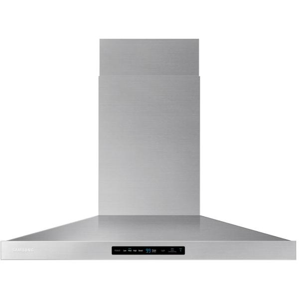 36 in. Wall Mount Range Hood Touch Controls, Bluetooth Connected, LED Lighting in Stainless Steel