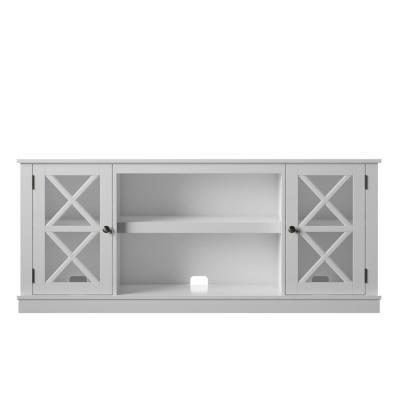 60 in. White TV Stand with 2 Shelves fits TV's up to 65 in. with Adjustable Shelf