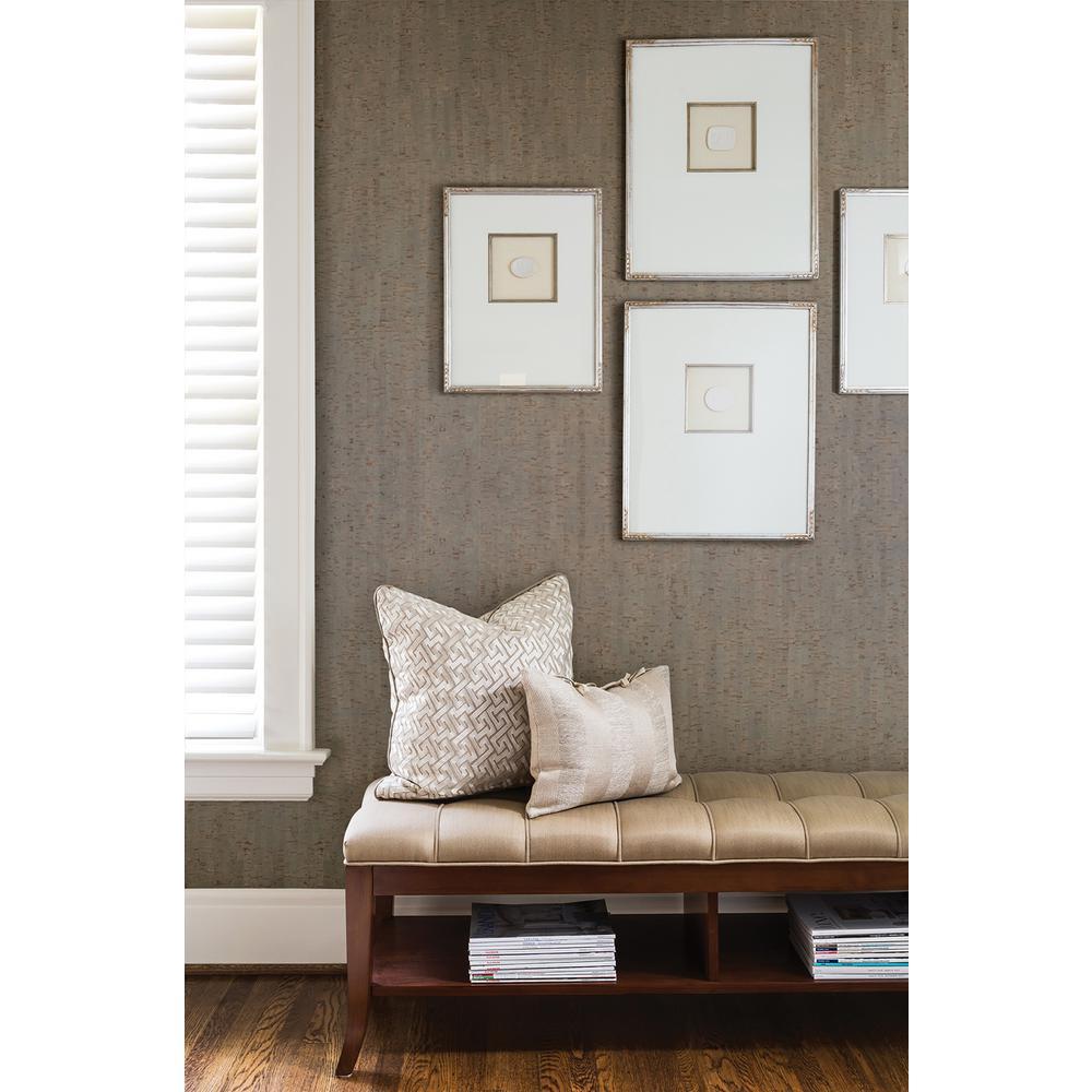Misha Dark Grey Wall Cork Wallpaper Sample