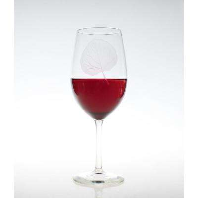 Aspen Leaf 18 oz. Clear All Purpose Wine (Set of 4)
