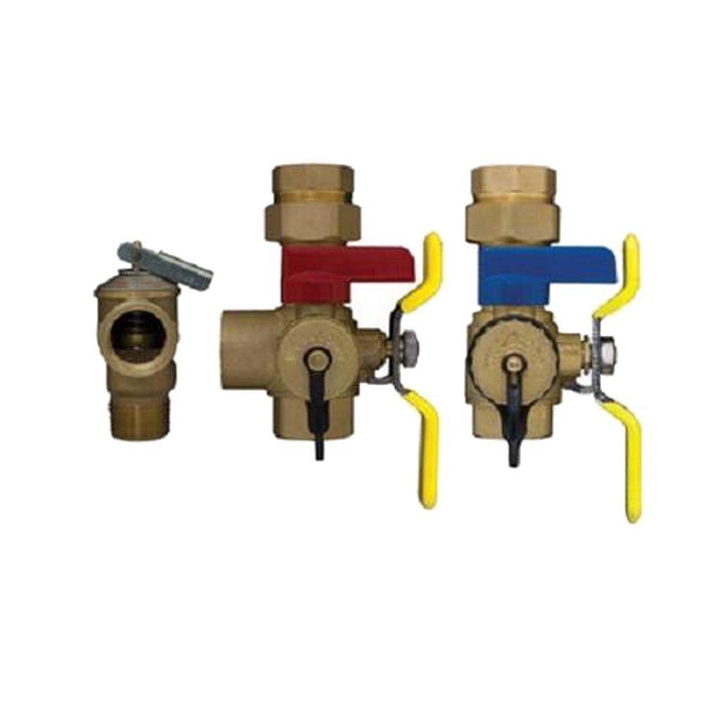tankless water heater valve set lead the home depot