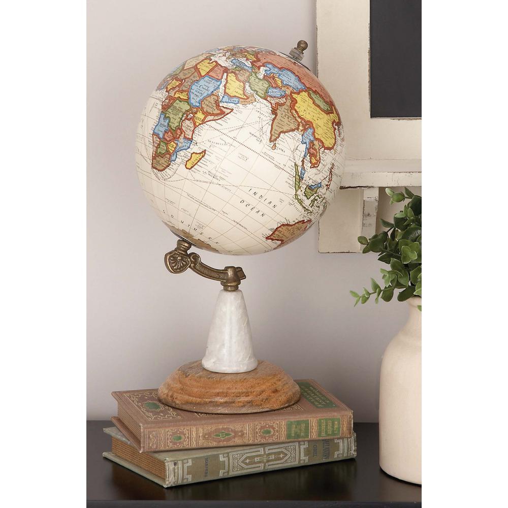 14 in. x 8 in. New Traditional Decorative Globe in Multi Colors