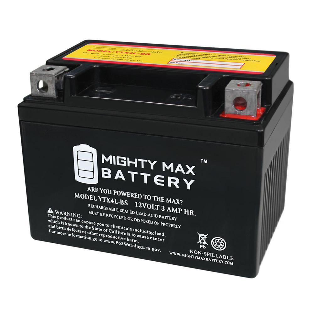 12-Volt 3 Ah 50 CCA Rechargeable Sealed Lead Acid (SLA) Powersport Battery