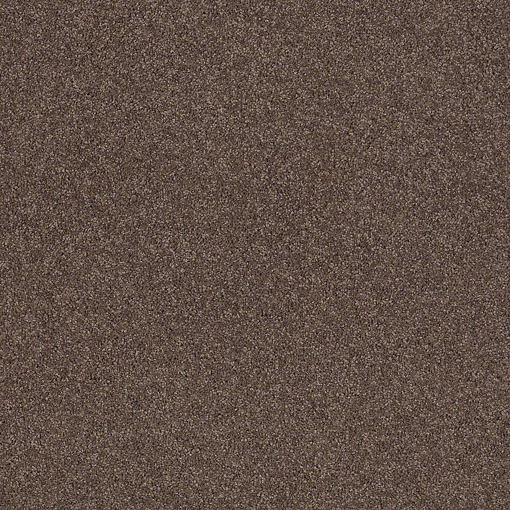 LifeProof Carpet Sample - Coral Reef I - Color Log Cabin Texture 8 in. x 8 in.