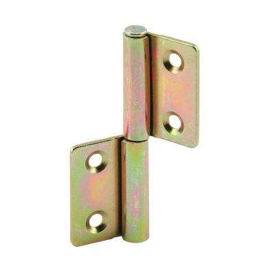 Bi-Fold Shutter Door Hinge, Brass Plated Steel