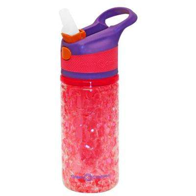 12 oz. Purple and Pink Double Wall Plastic Tritan Hydration Bottle with Crackle Freeze Gel (6-Pack)