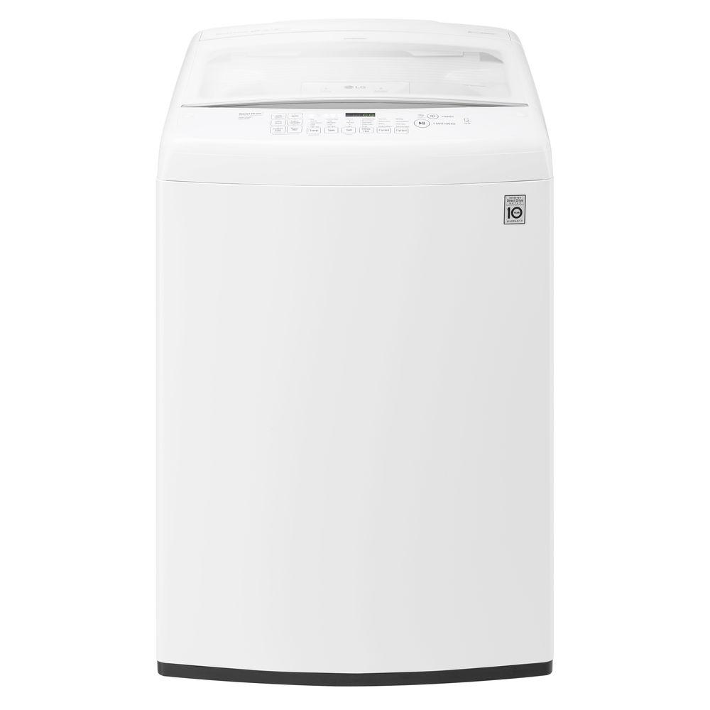 LG Electronics Cu Ft HighEfficiency Top Load Washer In White - Abt washers