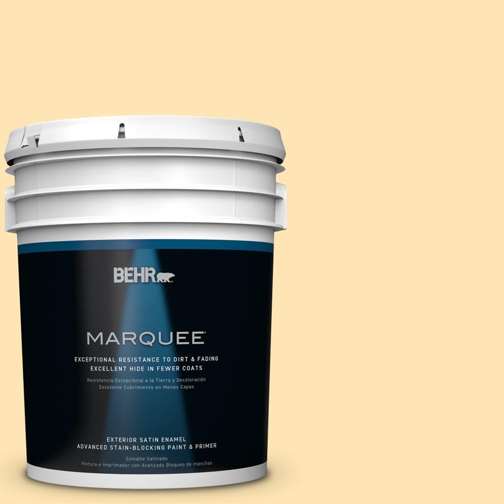 5-gal. #P260-3 Vanilla Ice Cream Satin Enamel Exterior Paint