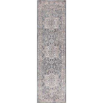 Olympus Heriz Ivory Rectangle Indoor 2 ft. x 7 ft. Runner