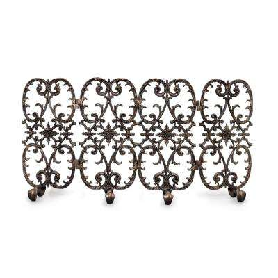 Siena Bronze 4-Panel 56 in. wide Fireplace Screen