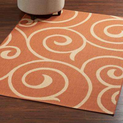 Whirl Terra Natural 5 Ft X 8 Area Rug