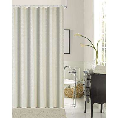 Kingston 72 in. Ivory Shrink Yarn Shower Curtain