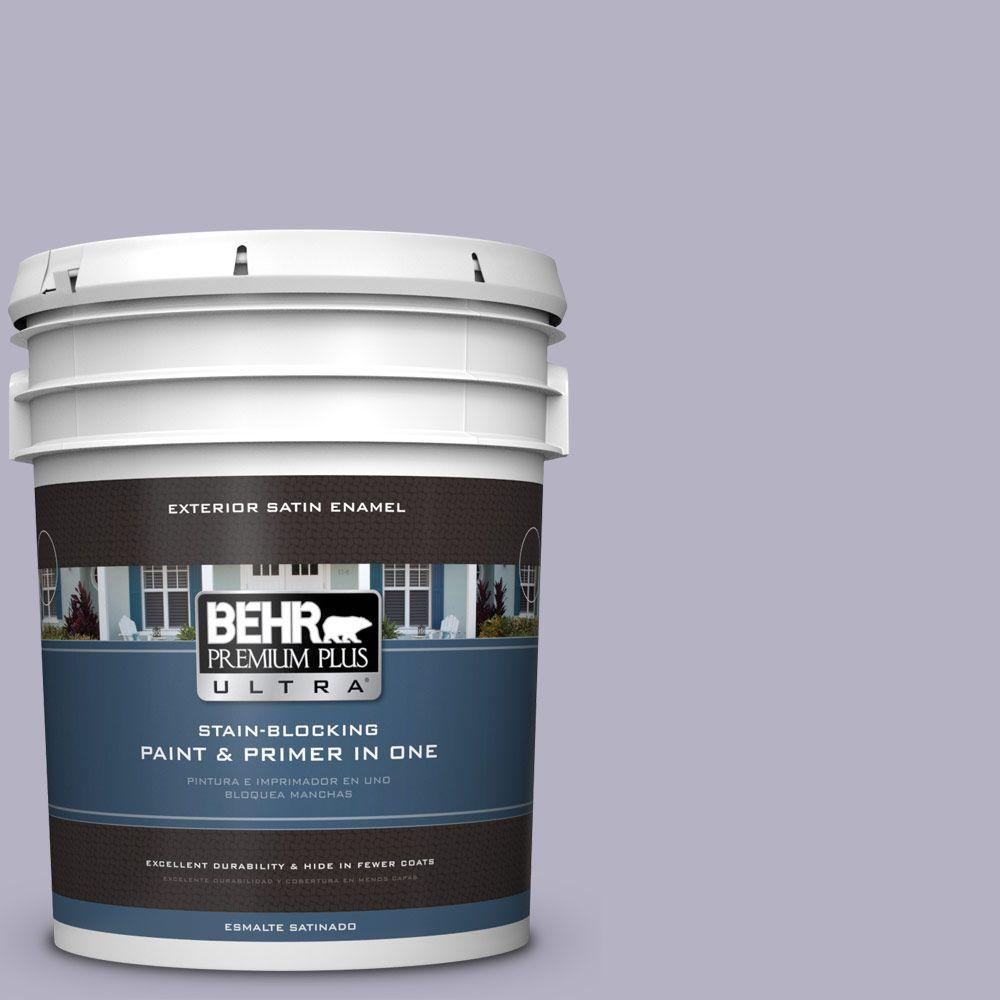 BEHR Premium Plus Ultra 5-gal. #640F-4 Fading Sunset Satin Enamel Exterior Paint