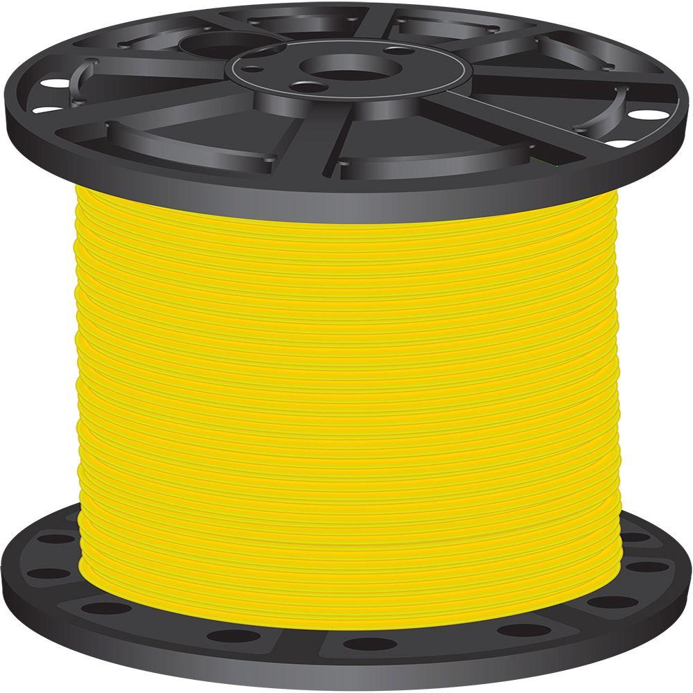 2,500 ft. 6 Yellow Stranded CU SIMpull THHN Wire
