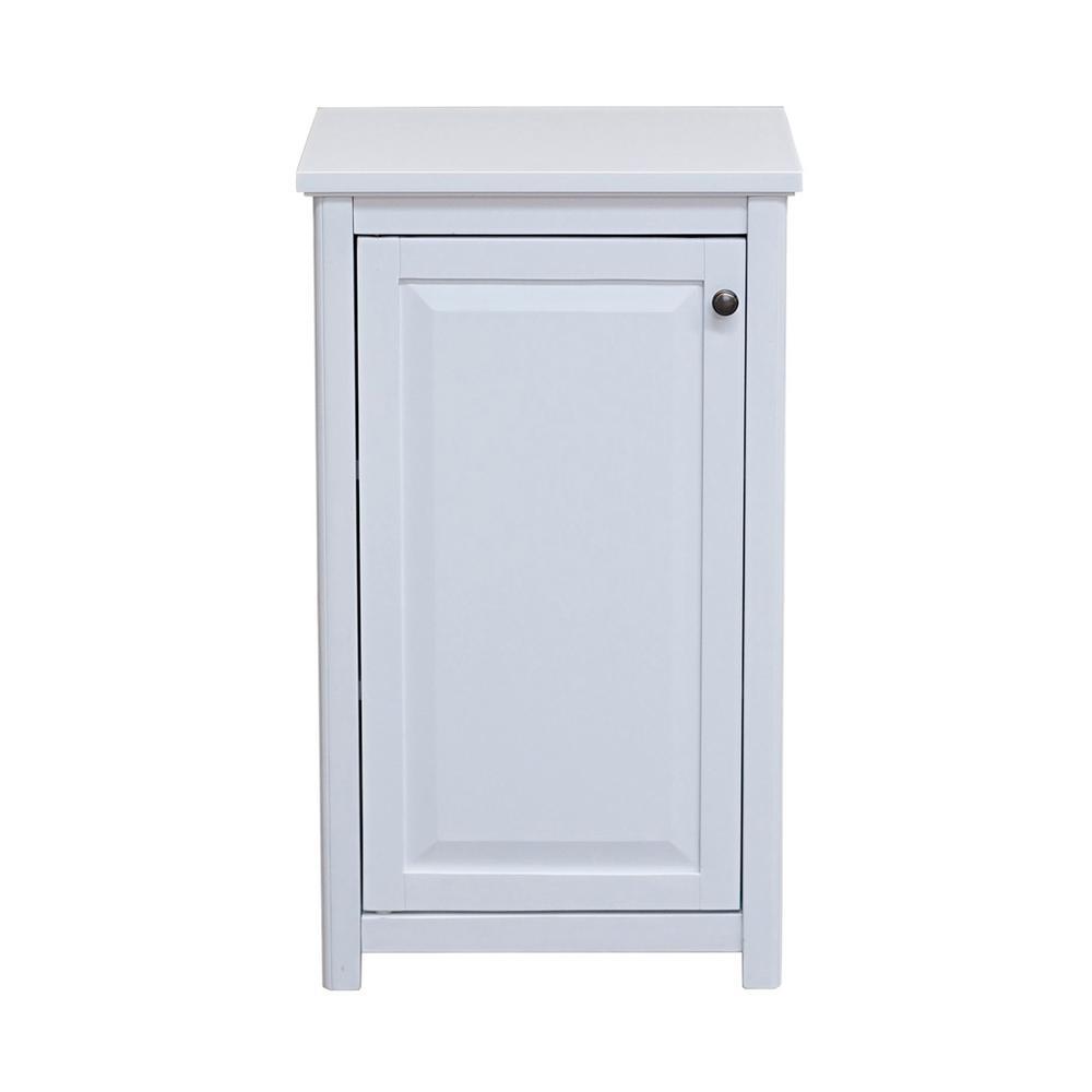Dorset 17 in. W x 29 in. H Freestanding Floor Bath Storage Cabinet with Door in White