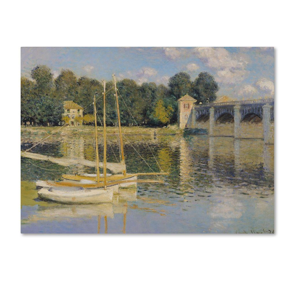 35 in. x 47 in. The Bridge at Argenteuil Canvas Art