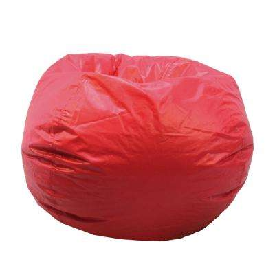 Red Vinyl Bean Bag