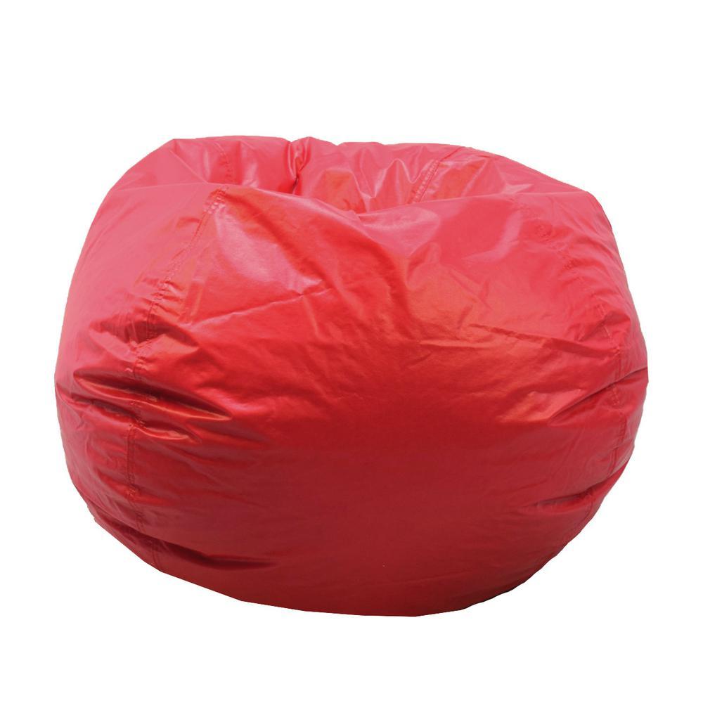 Ace Casual Furniture Red Vinyl Bean Bag