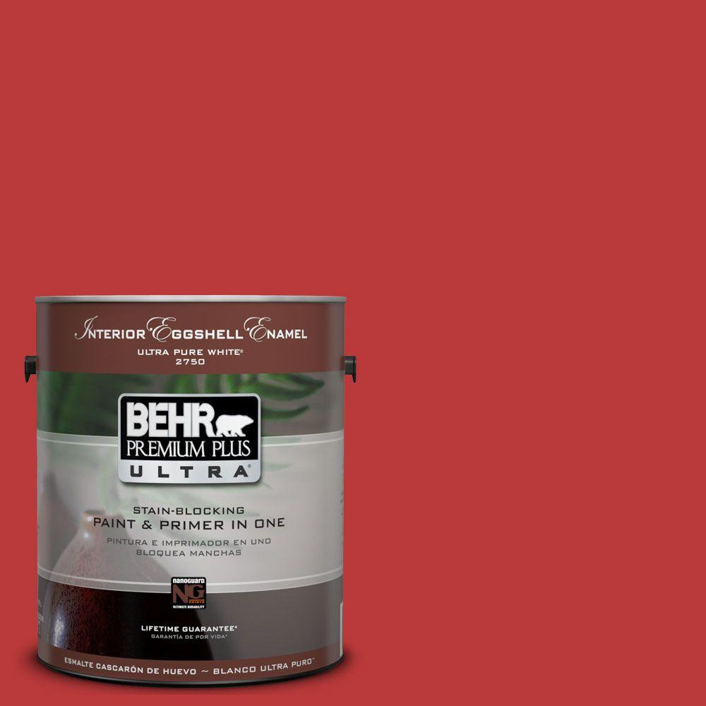 BEHR Premium Plus Ultra 1-Gal. #UL110-7 Edgy Red Interior Eggshell Enamel Paint