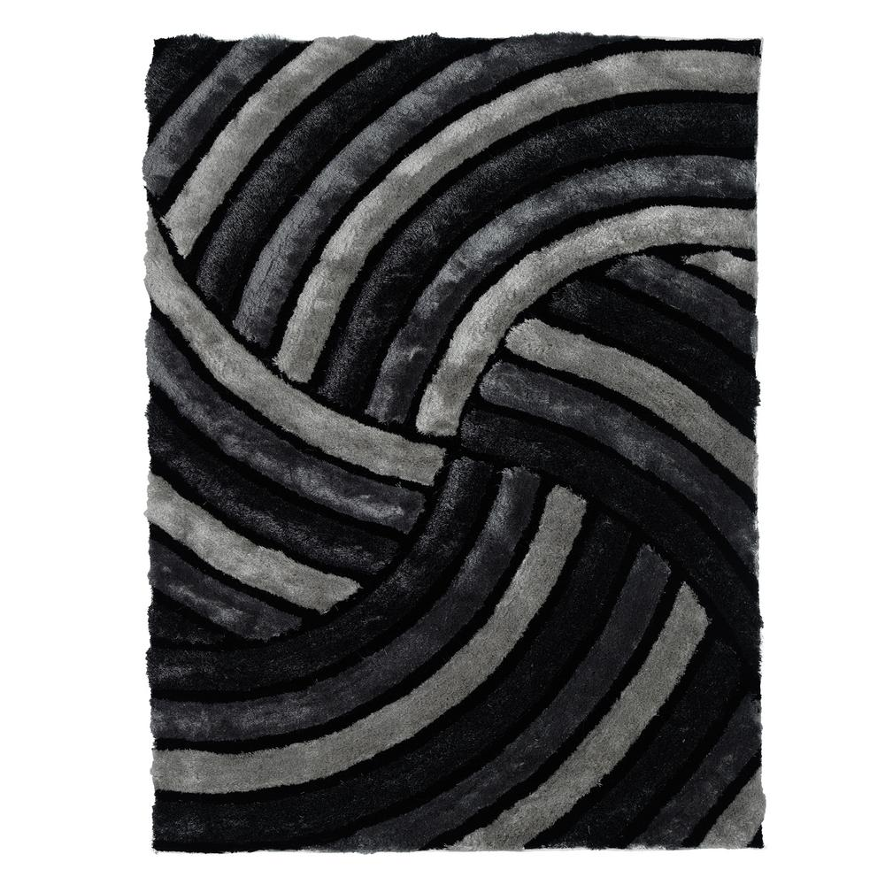 Ottomanson Jenny Collection Grey Road Traffic Design 5 Ft