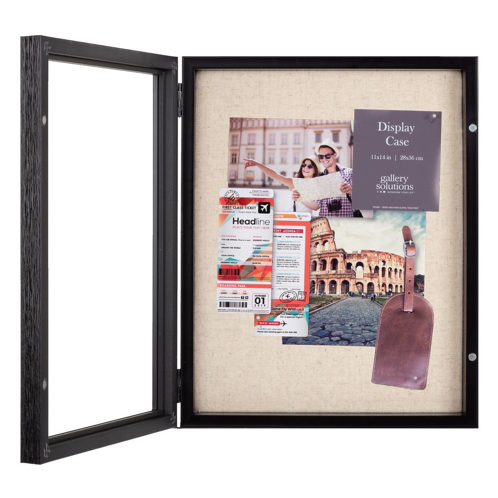 Pinnacle 11x14 Black Shadow Box Picture Frame 18fp1845e The Home Depot