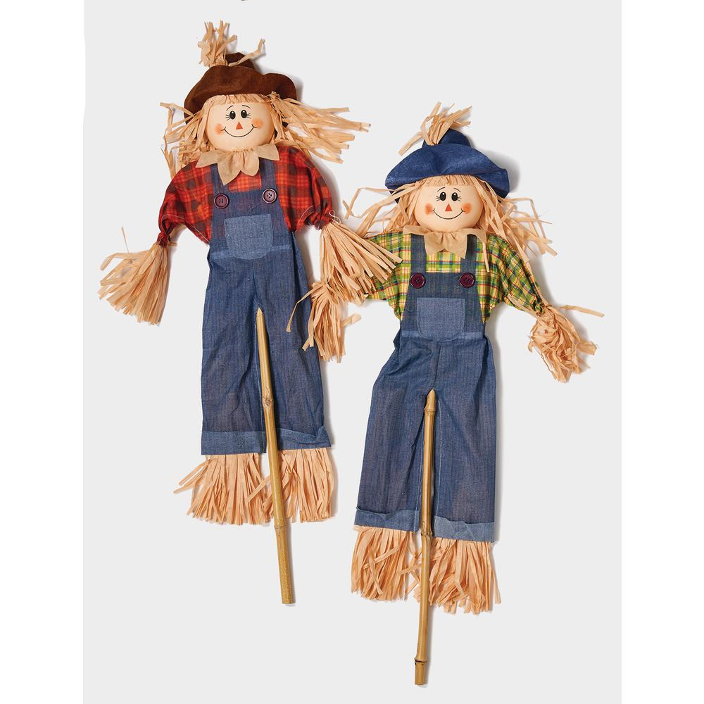 48 in  Scarecrow on Stick (Set of 2)