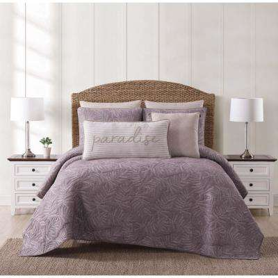 Chambray Coast Plum King Quilt Set
