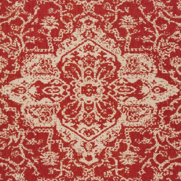 Safavieh Beach House Red Cream 9 Ft X 12 Ft Indoor Outdoor Area Rug Bhs137q 9 The Home Depot