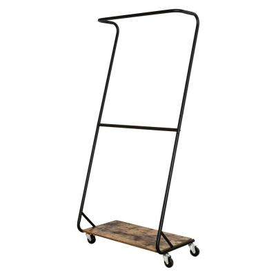 Z-Frame 11 in. x 71.75 in. Rustic Finish Garment Rack