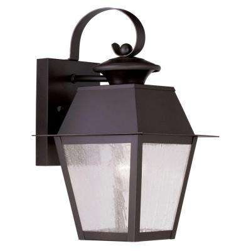 Providence Wall-Mount 1-Light Bronze Outdoor Incandescent Lantern