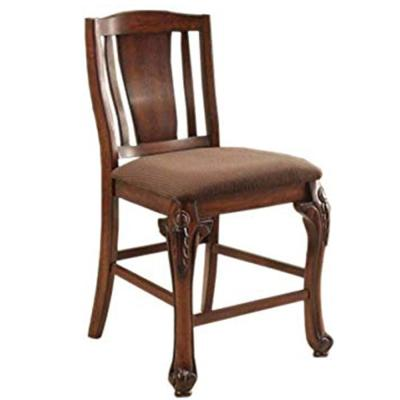 Johannesburg Counter Ht. Chair in Brown Cherry finish