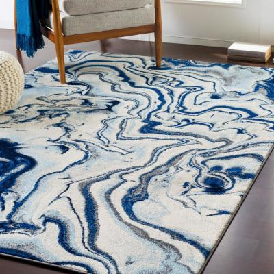 Navy Abstract Area Rugs Rugs The Home Depot