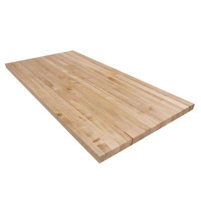 5 ft. L x 2 ft. 6 in. D x 1.75 in. T Butcher Block Countertop in Finished Maple