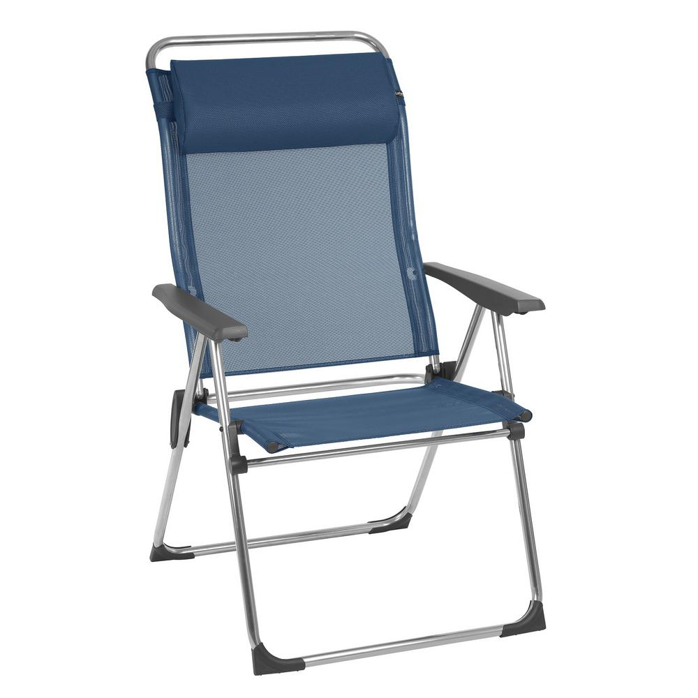 Lafuma Furniture Alu Cham Xl Ocean Blue Aluminum Folding