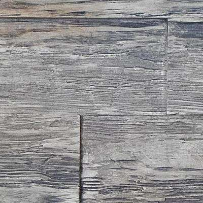 Superior Time Weathered 10 in. x 10 in. Faux Rustic Panel Siding Sample Weathered Barn